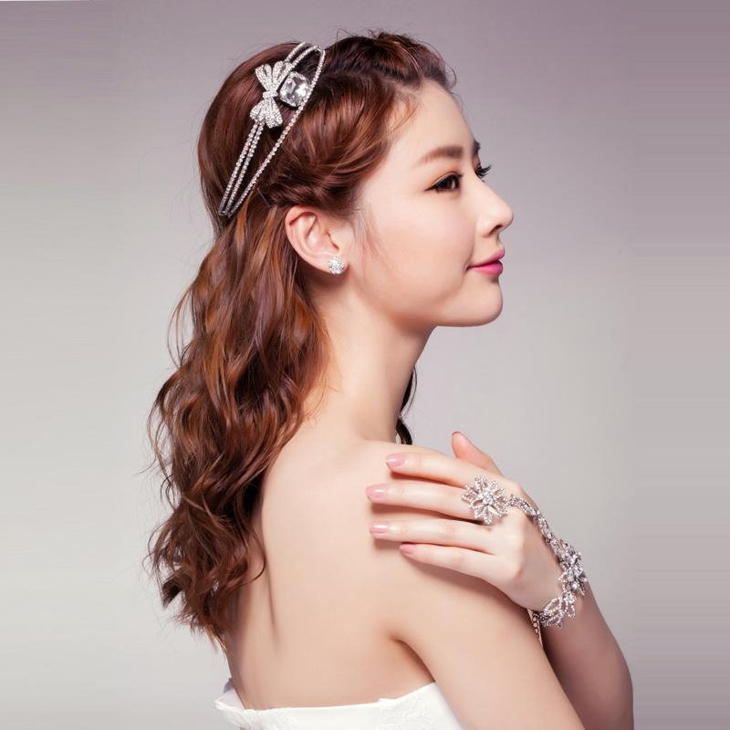 10 Best Korean Girls Hairstyle Ideas For Wedding (10) – Hairzstyle Throughout Korean Hairstyles For Party (View 1 of 20)