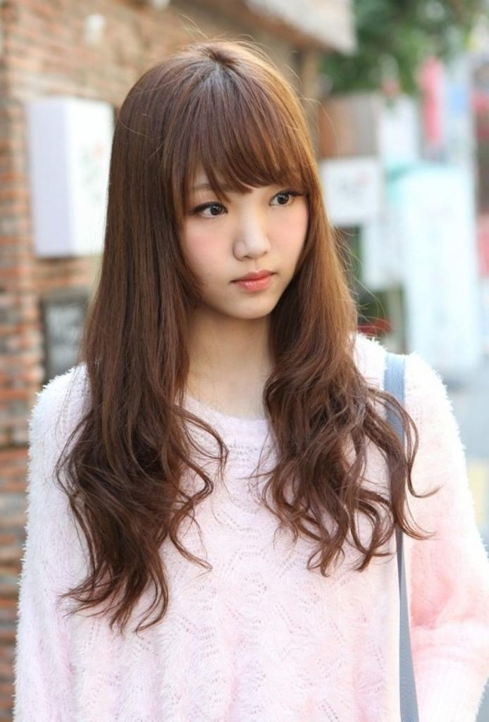 14 Prettiest Asian Hairstyles With Bangs For The Sassy College Inside Asian Hairstyles With Side Bangs (View 1 of 20)