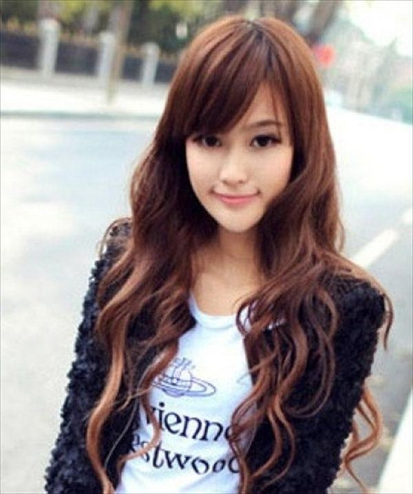 15 Ideas Of Cute Korean Hairstyles For Girls With Long Hair Regarding Korean Hairstyles For Long Hair (View 2 of 20)