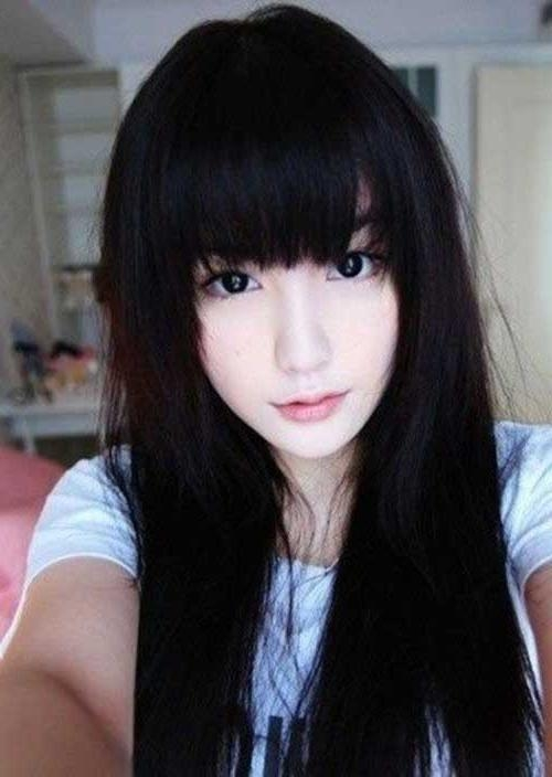 15+ Latest Korean Hairstyle 2014 | Hairstyles & Haircuts 2016 – 2017 Regarding Korean Hairstyles With Bangs (View 1 of 20)