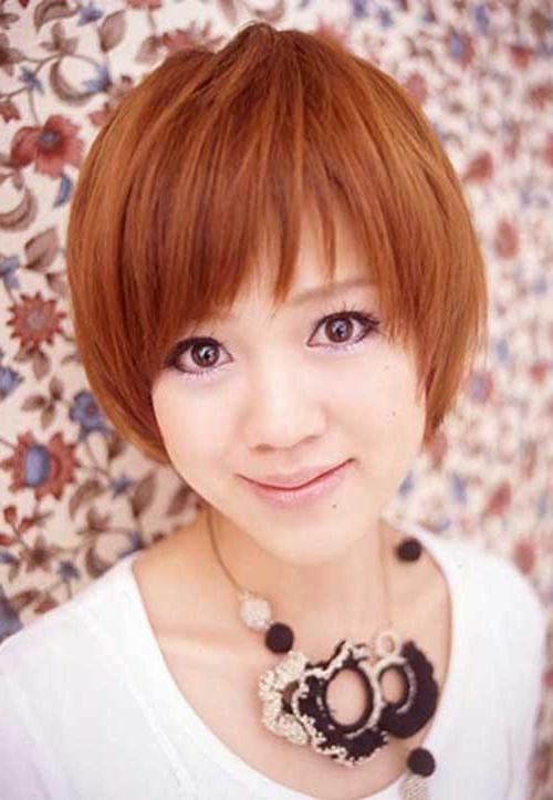 15 Short Straight Hairstyles For Round Faces | Short Hairstyles With Asian Hairstyles For Round Face (View 7 of 20)