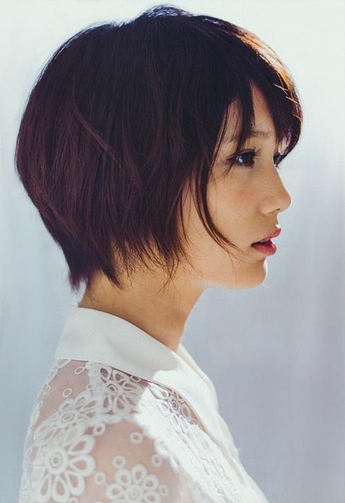 20 Charming Short Asian Hairstyles For 2018 – Pretty Designs Regarding Short Bob Asian Hairstyles (View 4 of 20)