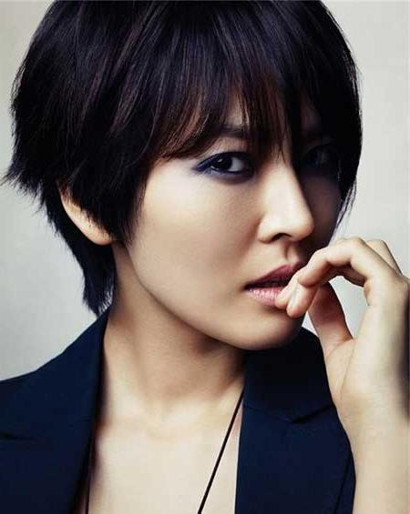 20 ideas of asian hairstyles with short bangs