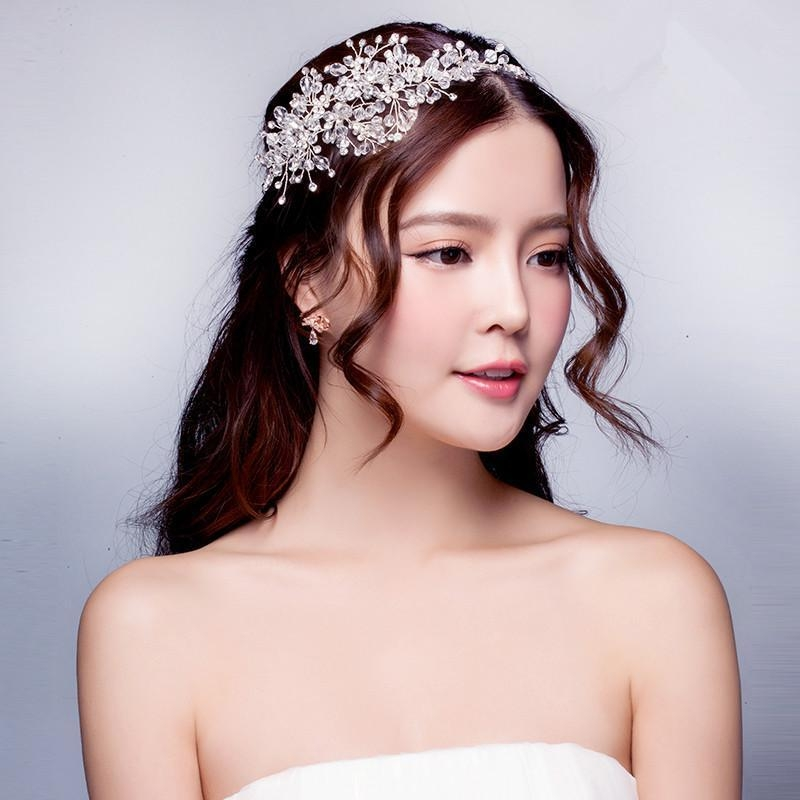 2015 Wedding Dresses Hair Accessories Korea Shining Wedding Bridal Within Korean Hairstyles For Party (View 2 of 20)