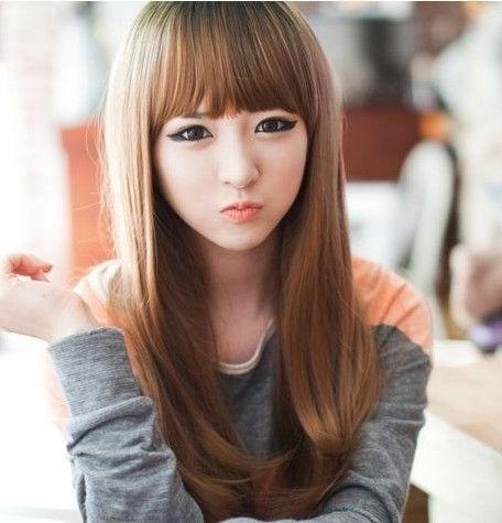 25 Gorgeous Asian Hairstyles For Girls Pertaining To Korean Haircuts With Bangs (View 3 of 20)