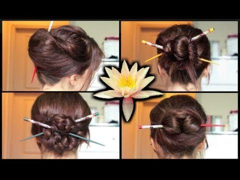 35 Best Hair Sticks Accessories For Long Hair Images On Pinterest With Simple Asian Hairstyles (View 9 of 20)