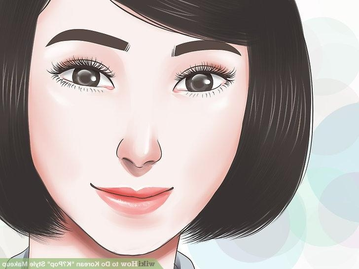 "4 Ways To Do Korean ""k‐Pop"" Style Makeup – Wikihow Throughout Korean Hairstyles For Oval Shaped Face (View 6 of 20)"