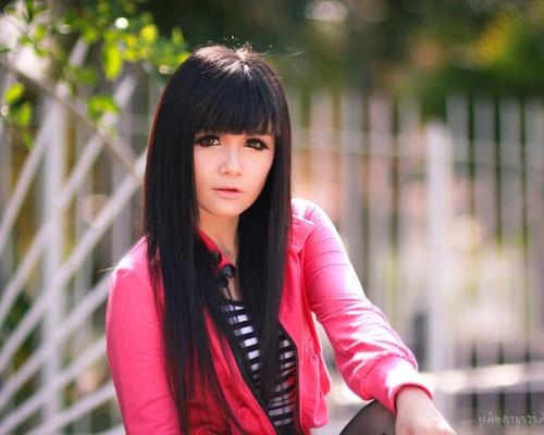 40 Exceptional Long Hairstyles With Bangs | Creativefan In Cute Asian Haircuts With Bangs (View 6 of 20)