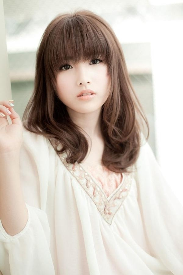 50 Sexy Asian Hairstyles For Girls – Page 2 Of 2 – Stylishwife Inside Asian Haircuts With Bangs (View 10 of 20)