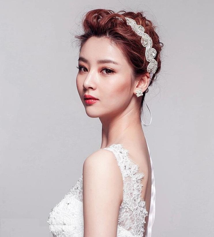 7 Best Korean Girls Hairstyle Ideas For Wedding (7) – Hairzstyle Pertaining To Korean Hairstyles For Party (View 5 of 20)