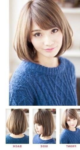 99 Best Short Hair Images On Pinterest | Hair Cut, Faces And Hairdos Throughout Korean Hairstyles For Oval Shaped Face (Gallery 3 of 20)
