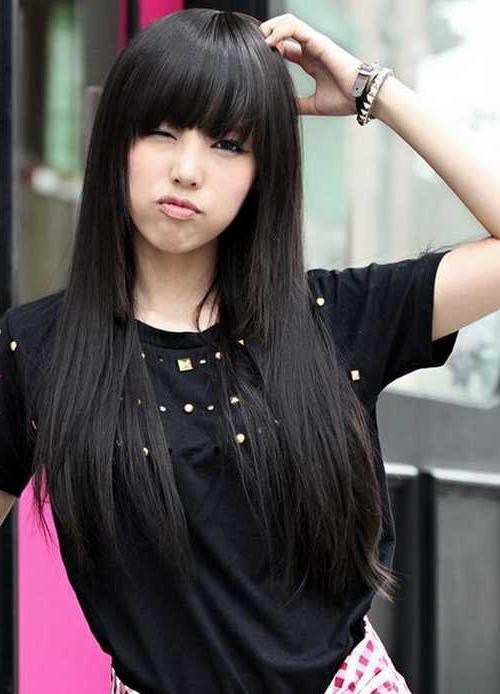 Asia Hairstyle For Women With Round Face Bangs Regarding Round Face Asian Hairstyles (View 17 of 20)