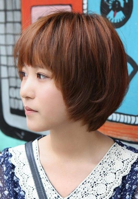 Asian Hairstyles For Girls: Short Straight Hair – Popular Haircuts Within Asian Hairstyles For Short Hair (View 11 of 20)
