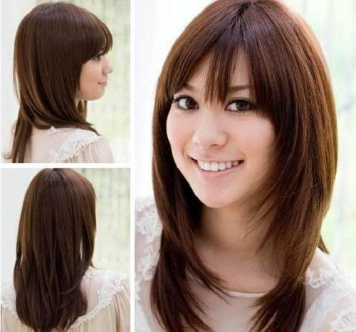 Asian Hairstyles Semi Long Hair Collection For Asian Haircuts For Long Hair (View 10 of 20)