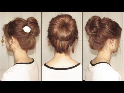 Ballet Bun – Youtube Throughout Easy Korean Hairstyles (View 7 of 20)