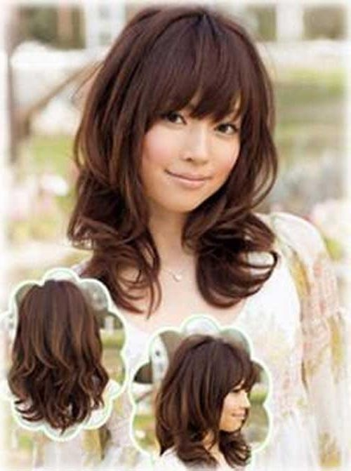 Best Curly Hairstyles » Haircuts Photos – Hairstyles Within Cute Asian Haircuts With Bangs (View 10 of 20)