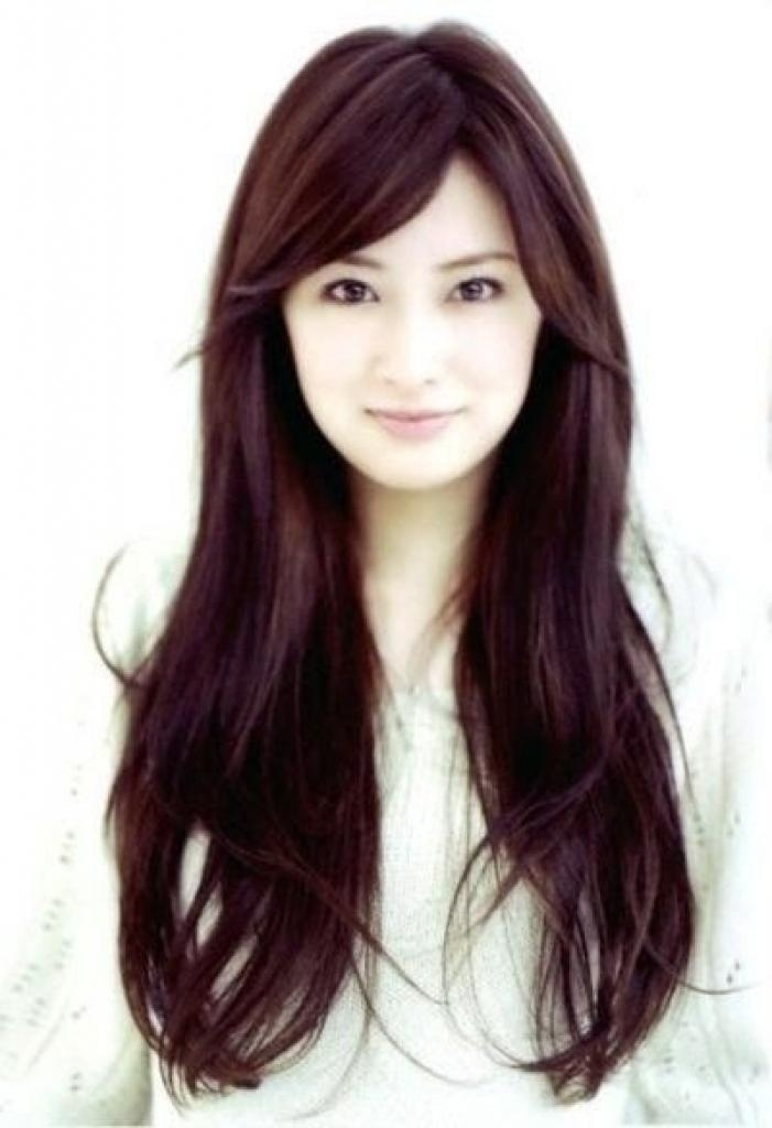 Best Korean Hairstyle For Round Face Best 25 Long Asian Hairstyles Pertaining To Long Asian Hairstyles (View 17 of 20)