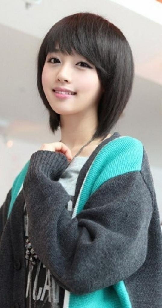 Chinese Long Haircut Cute Chinese Girl Long Haircut With Bang Intended For Chinese Hairstyles For Girl (View 8 of 20)