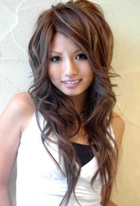 Cute Asian Hairstyles For Girls: High Volume & Large Waves Regarding Asian Hairstyles For Long Hair (View 14 of 20)