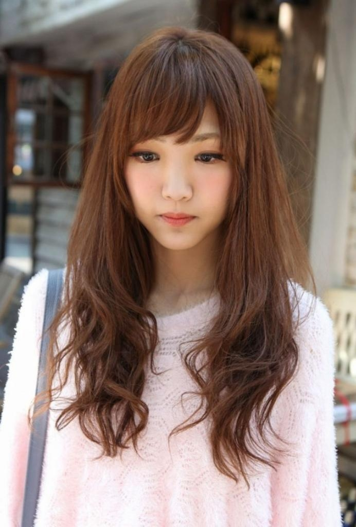 Cute Asian Hairstyles For Round Faces Tag Korean Hairstyle For Regarding Asian Hairstyles For Round Faces (View 12 of 20)