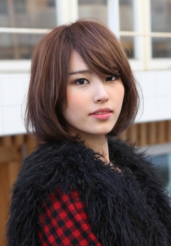 Cute Bob With Side Swept Bangs: Popular Japanese Hairstyles 2013 For Asian Hairstyles With Side Bangs (View 11 of 20)