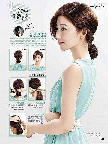 Cute Korean Braid Ponytail Hairstyle For Long Hair With Side Bangs For Easy Korean Hairstyles (View 9 of 20)