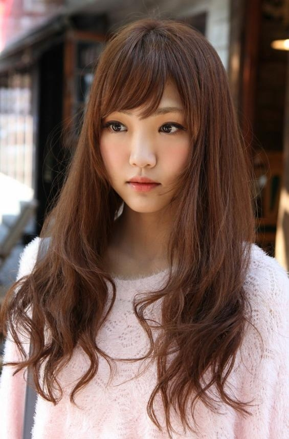 Cute Korean Girls Long Hairstyle – Hairstyles Weekly Pertaining To Pretty Korean Hairstyles (View 12 of 20)