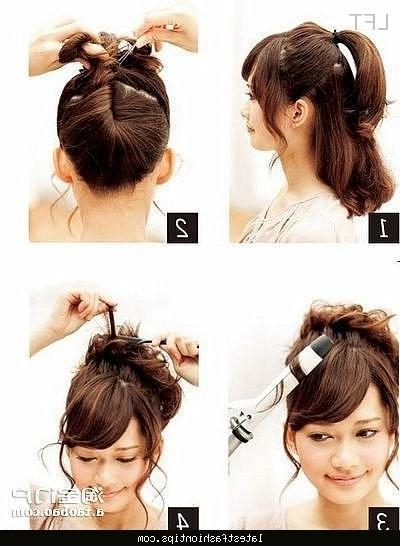 Cute Korean Hair Buns – Latestfashiontips ® Within Cute Korean Hairstyles (View 8 of 20)