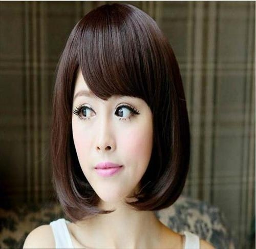 Cute Korean Hairstyles For Medium Hair For Girls – Best Haircut Style Throughout Korean Hairstyles For Medium Hair (View 8 of 20)