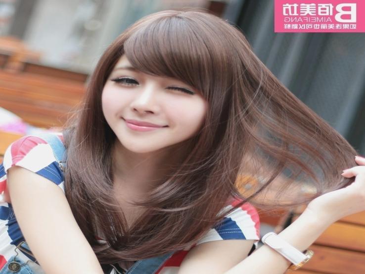 Cute Korean Hairstyles For Medium Hair – Hairstyles And Haircuts Intended For Cute Korean Hairstyles For Medium Hair (View 8 of 20)