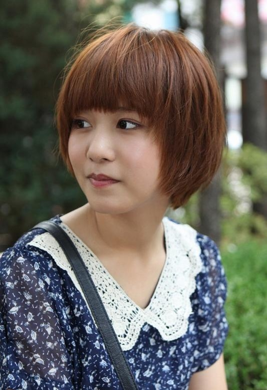 Cute Short Korean Bob Hairstyle – Asian Hairstyles – Hairstyles Weekly Within Short Bob Asian Hairstyles (View 15 of 20)