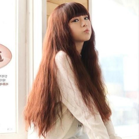 Free Shipping! Korean Fashion Wig Temperament Repair Face Long With Korean Hairstyles For Long Hair (View 14 of 20)