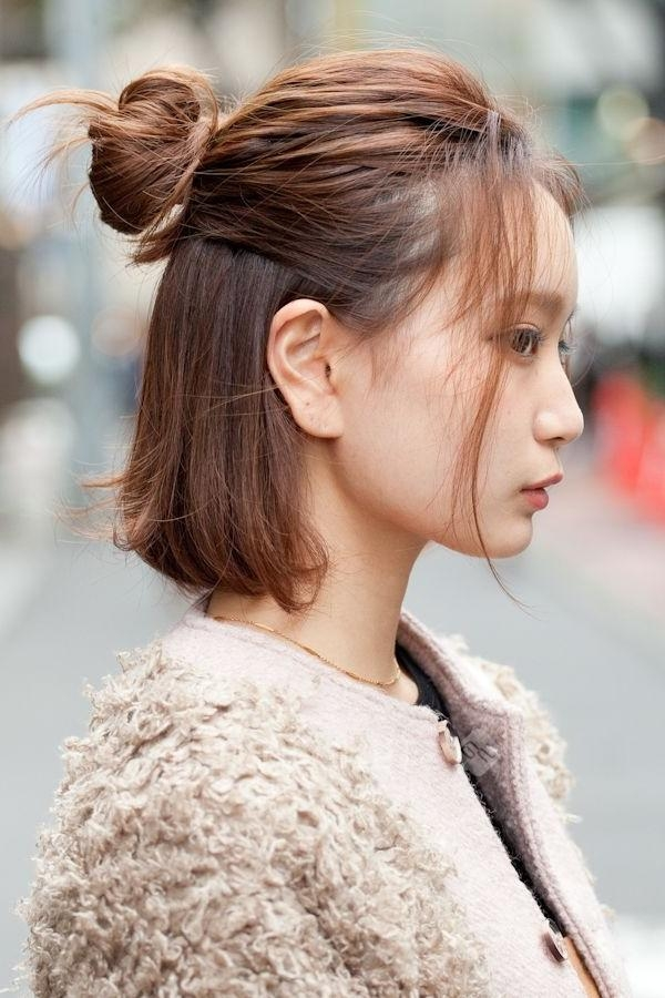 Hairstyles Ideas : Korean Women's Hairstyles Medium Length Korean With Regard To Easy Korean Hairstyles (View 16 of 20)