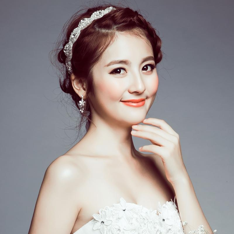 Jiaqi Na Beloved Poem. The New Korean Wedding Bridal Tiara Hair With Korean Hairstyles For Wedding (Gallery 9 of 20)