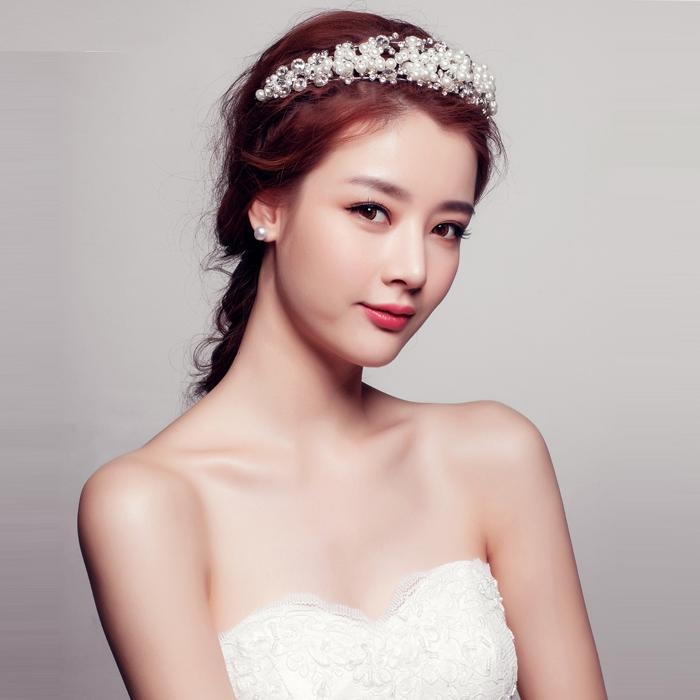 Korean Bridal Hairstyles – Internationaldot In Korean Hairstyles For Wedding (Gallery 8 of 20)