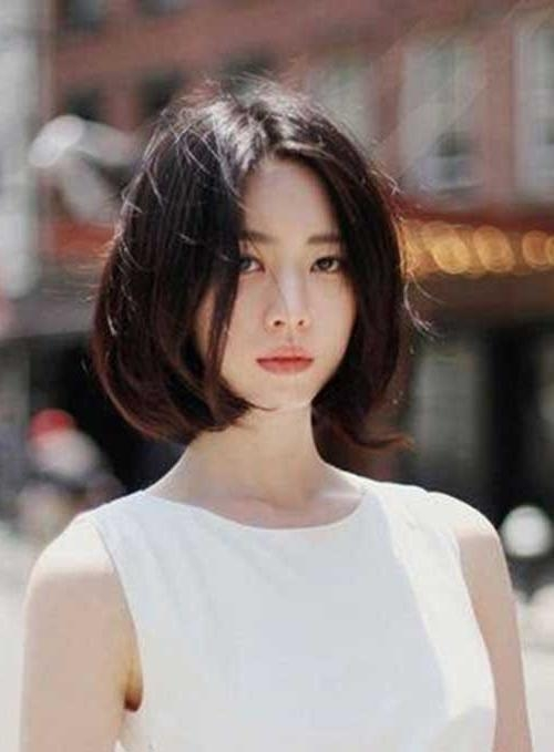Korean Girl Short Hairstyle 2017: Girls Short Hairstyles For Pretty Korean Hairstyles (Gallery 17 of 20)