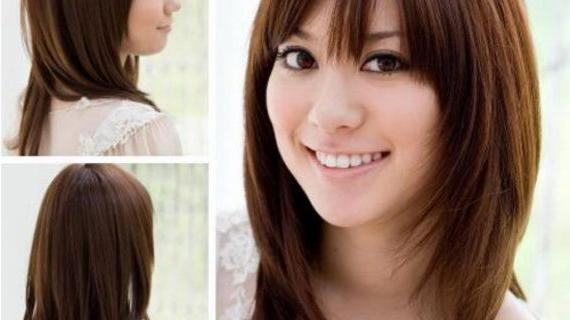 Korean Haircut For Round Face Straight Hair – Women Hairstyle Ware Intended For Korean Haircuts For Round Face (Gallery 18 of 20)