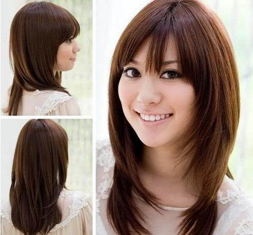 Korean Hairstyle Women Round Face – Fashion Female With Korean Hairstyles For Round Faces (View 15 of 20)