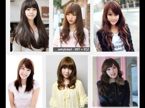 Korean Hairstyles For Long Hair – Youtube With Cute Korean Hairstyles (View 18 of 20)