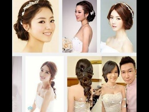 Korean Wedding Hair Style 2014 – Youtube Intended For Asian Hairstyles For Wedding (Gallery 10 of 20)