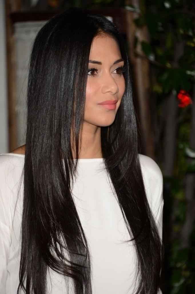 Long Straight Black Hairstyles Hairstyles For Long Black Straight Within Long Straight Asian Hairstyles (View 15 of 20)