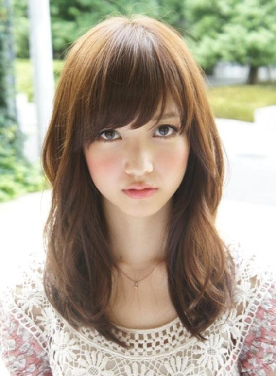 Medium Length With Bangs Hairstyle You Can Follow » Celebrity With Long Asian Hairstyles With Bangs (View 16 of 20)