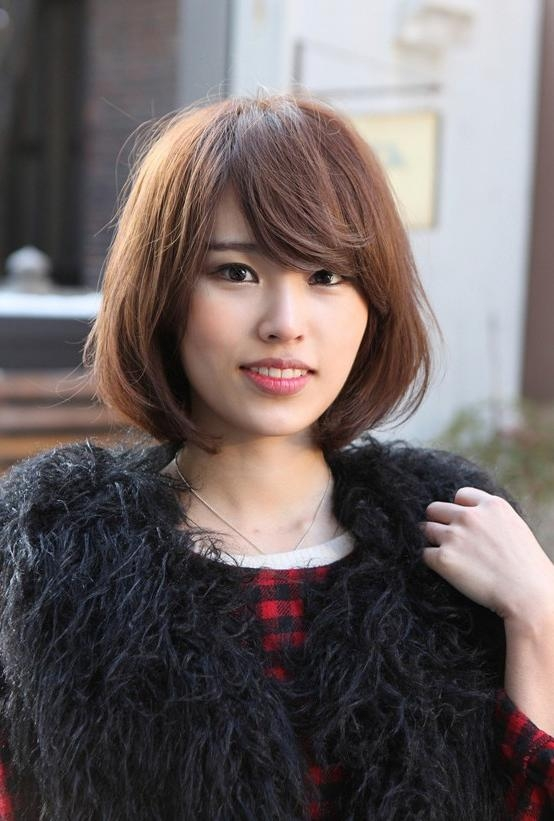 Messy Medium Bob With Long, Sexy Fringe – Simple Easy Daily Asian Regarding Daily Asian Hairstyles (View 2 of 20)