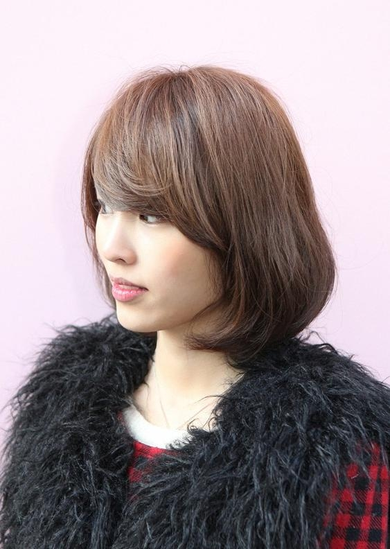 Messy Medium Bob With Long, Sexy Fringe – Simple Easy Daily Asian Throughout Daily Asian Hairstyles (View 6 of 20)