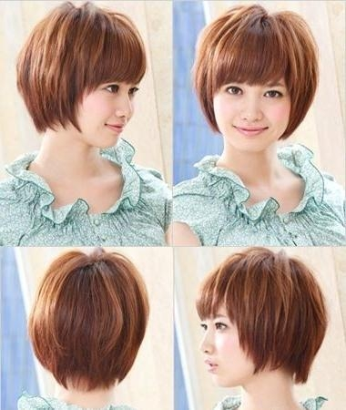 Most Popular Asian Hairstyles For Short Hair – Popular Haircuts Regarding Cute Asian Hairstyles For Round Faces (View 18 of 20)