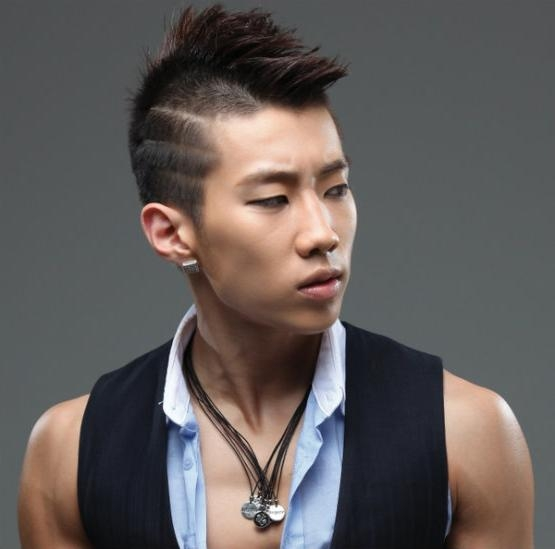 Most Trendy Asian Hairstyles For Men : The K Pop | Latest Hair In Trendy Asian Hairstyles (View 14 of 20)