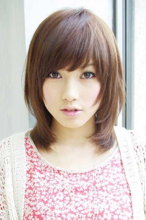 Nice Short Bob Haircuts With Bangs | Short Hairstyles 2016 – 2017 For Asian Hairstyles With Side Bangs (View 18 of 20)