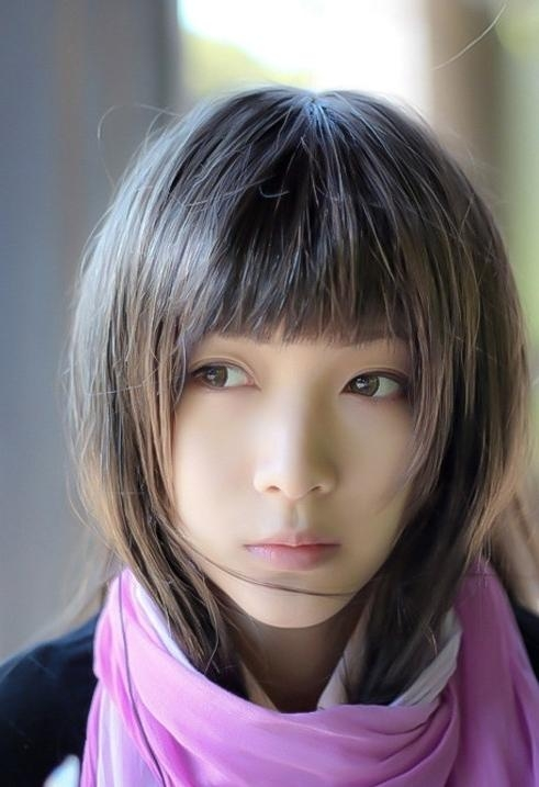 Short Haircuts With Bangs – Side Swept, Choppy & Straight Across Throughout Cute Asian Haircuts With Bangs (View 18 of 20)