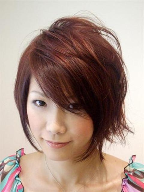 Short Hairstyles For Round Faces   Circletrest Inside Asian Hairstyles For Round Faces (View 16 of 20)