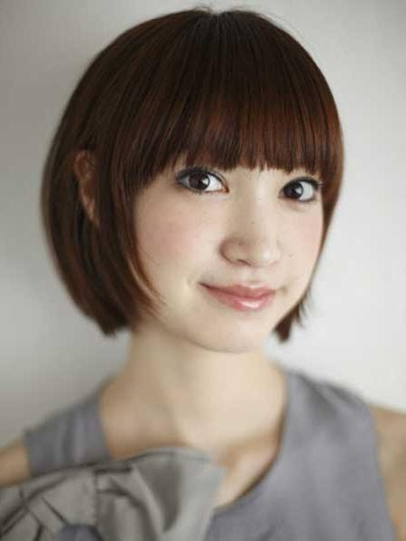 Short Hairstyles For Straight Asian Hair: Haircuts For Short For Asian Hairstyles With Short Bangs (View 18 of 20)